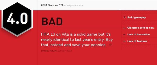 FIFA13psv版IGN简评
