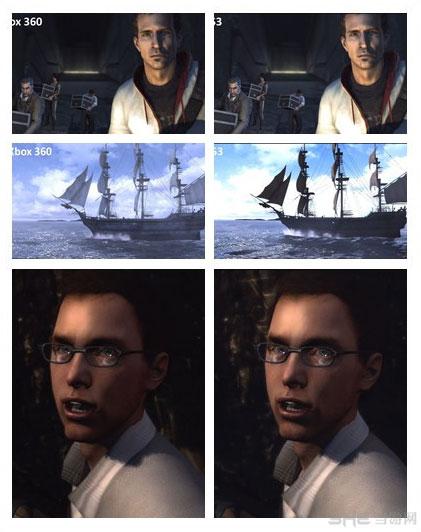 刺客信条3Xbox360和PS3对比截图
