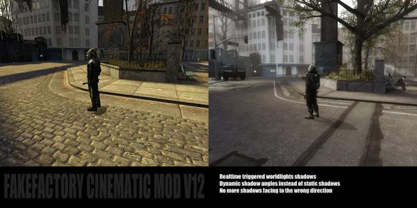 半条命2Cinematic Mod Version 12画面对比截图