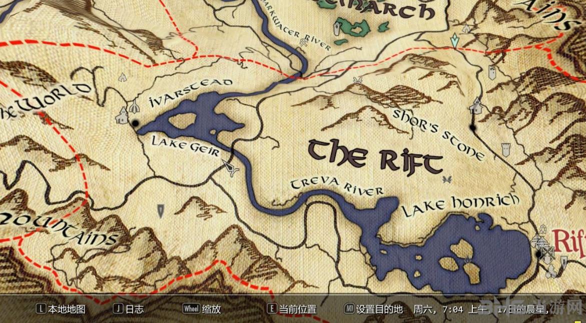 上古卷轴5天际地图mod|上古卷轴5天际详细的纸质世界