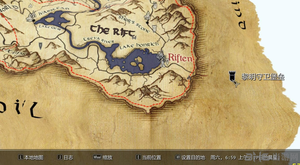 上古卷轴5天际地图mod上古卷轴5天际详细的纸质世界v