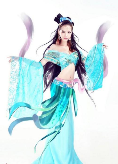 叶梓萱妖娆迷人演绎古装美女cosplay(1/6)