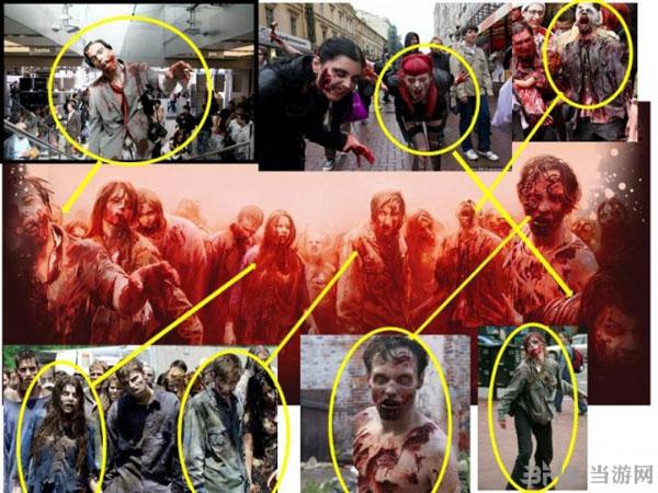 之前的《僵尸战争》抄袭《行尸走肉》对比图