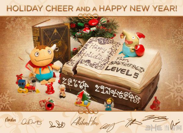 LEVEL-5and吉卜力工作室圣诞卡片