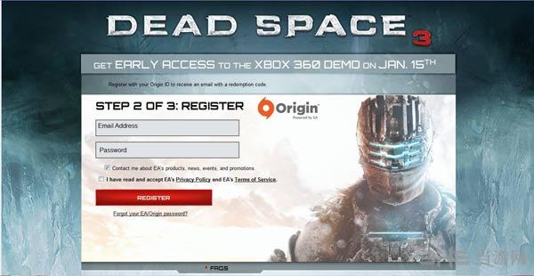 死亡空间3试玩版申请界面