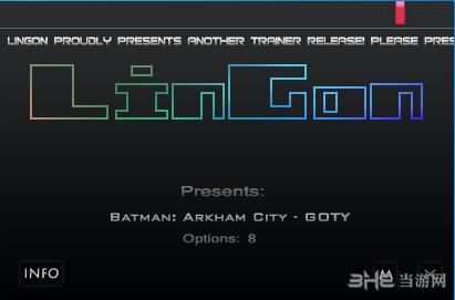 蝙蝠侠阿甘之城八项修改器