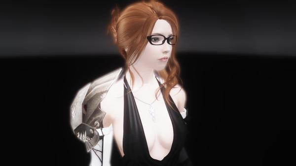 黑框熟女风情玩家自制《上古卷轴5》美女MO美女图片臀怀孕翘图片