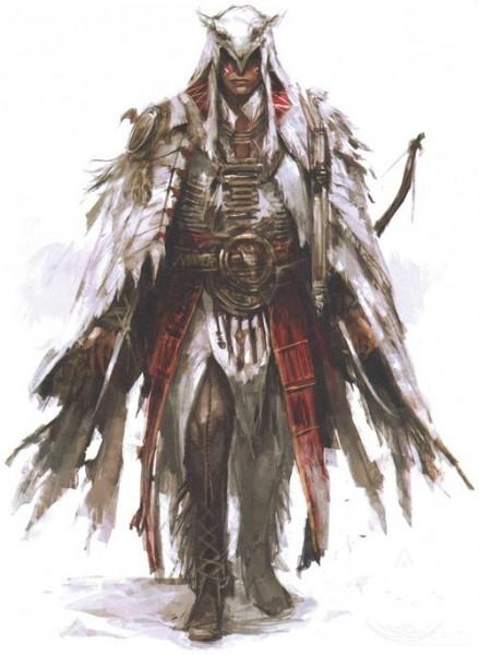 《刺客信条3》最新康纳艺术图 展示莫霍克风情