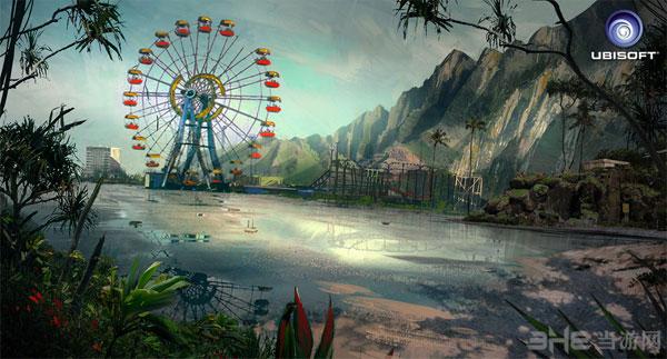 孤岛惊魂3早期孤岛概念图欣赏 一副世界末日后的荒凉景象
