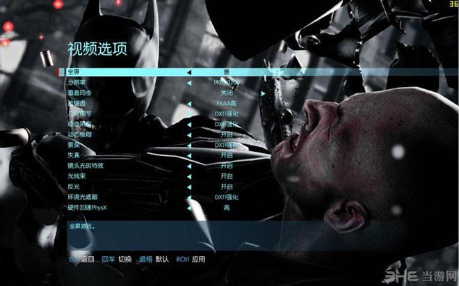 蝙蝠侠阿卡姆起源DX11特效怎么开启和关闭2