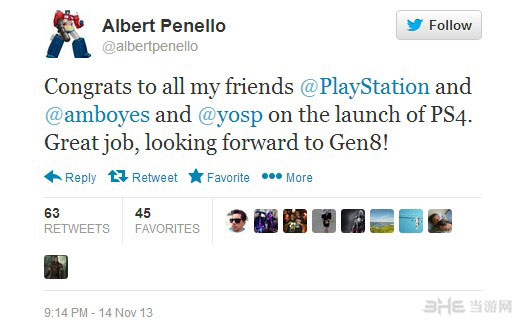 索尼PS4上市成功 竞争对手微软发来贺电2