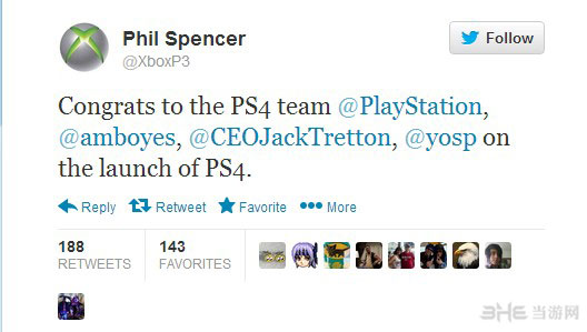 索尼PS4上市成功 竞争对手微软发来贺电1