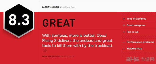 丧尸围城3获IGN8.3好评