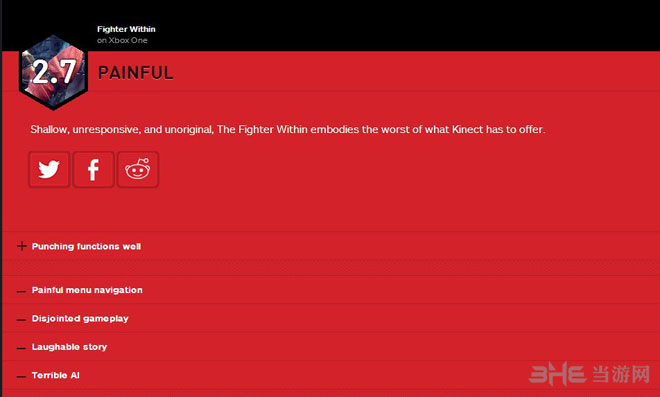 格斗之心获IGN2.7超低评分