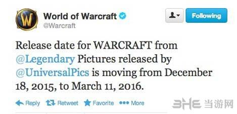 魔兽世界电影版跳票之2016年3月11日