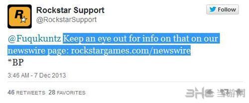 GTA5 PC版发售R星官网发声明