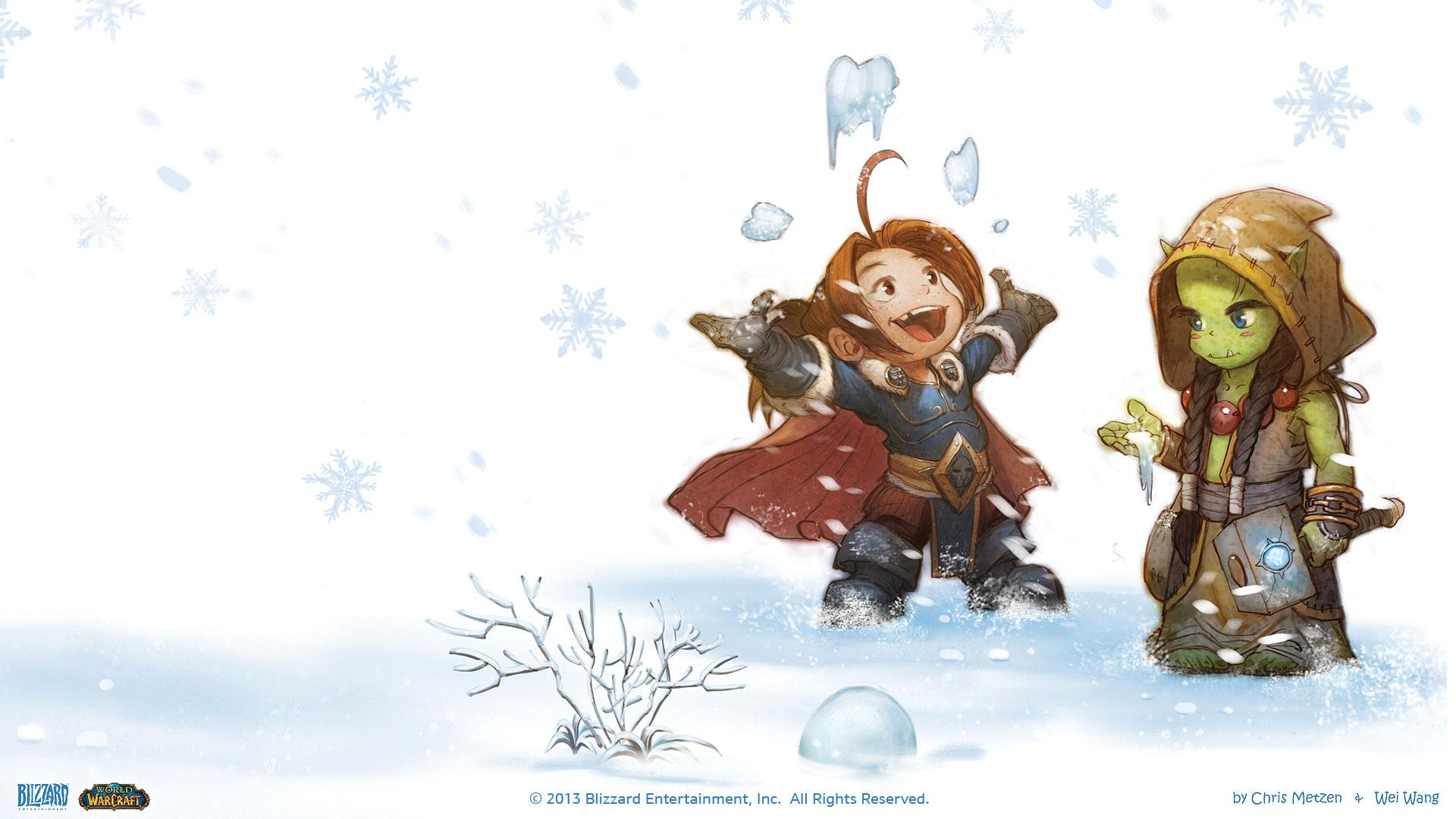魔兽世界q版卡通高清大壁纸