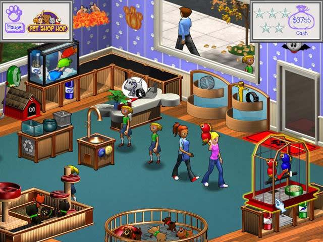 可爱宠物店(Pet Shop Hop)是款模拟经营类游戏,该款游戏采用了3D画面表现出了卡通的效果,轻松欢快的音乐背景给人带来一种轻松的感觉。游戏中主角要经营一家宠物店,他邀请你跟他一起经营。坏心的Minerva一直想打这家店铺的主意,于是你们要在一年内赚取足够的金钱来帮助主角继续开店铺。   该款游戏的操作很简单,你需要照顾动物的各种卫生以及食物,每天还要记得进货,根据客户的要求对小动物进行检查,让客户满意得到更多的资金。同时玩家还可以对自己的店铺进行升级以及设备的购买,将你们的宠物店越开越大,赚取更多