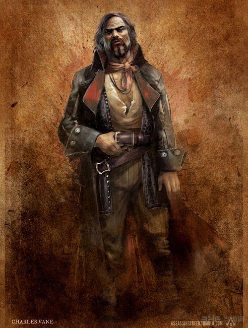 刺客信条4黑旗新角色艺术图