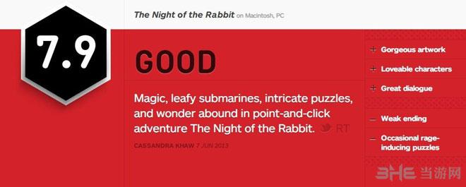 兔子之夜IGN评分