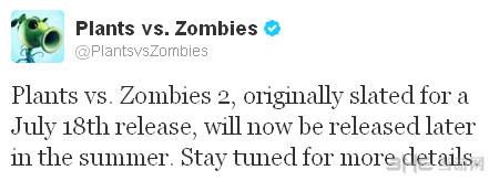 植物大战僵尸2发售日延后官方声明
