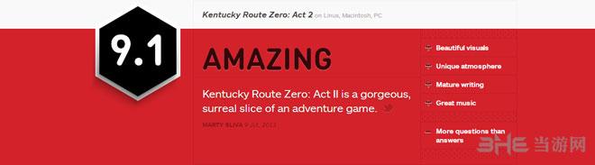 肯塔基0号路IGN评测