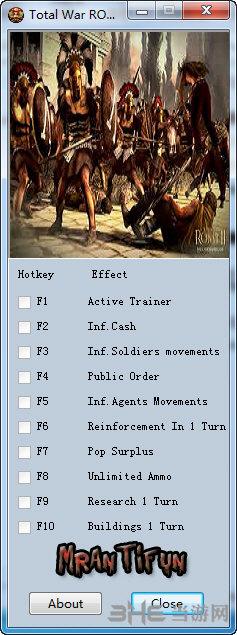 罗马2全面战争九项修改器
