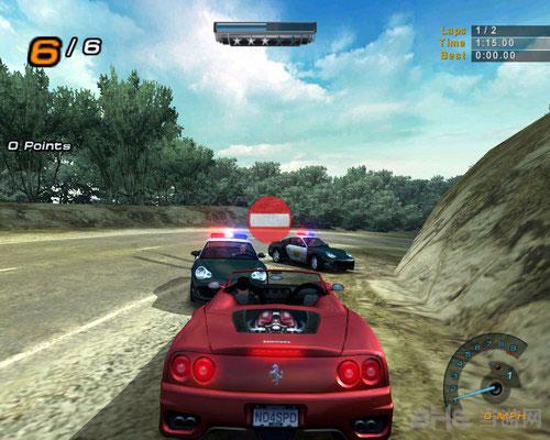 PC手柄玩的单机游戏推荐-极品飞车6热力追踪2