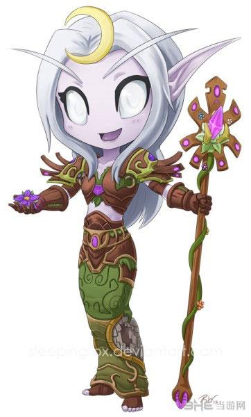 魔兽世界美女玩家原创超萌q版插图 我的wow才没那么萌