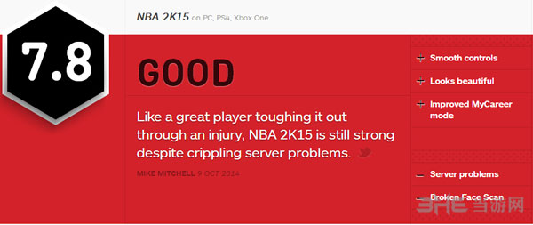 NBA2k15评分