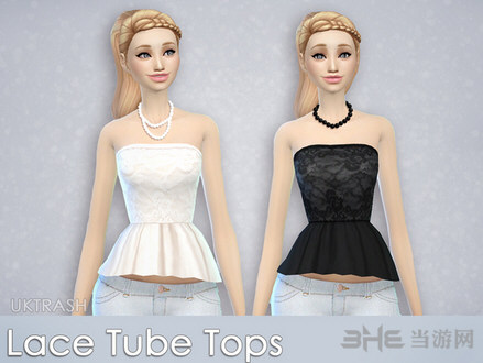 模拟人生4女性蕾丝上衣