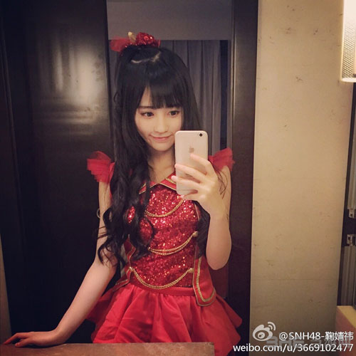 中国4000年第一美女SNH48鞠婧祎私照放出 吐