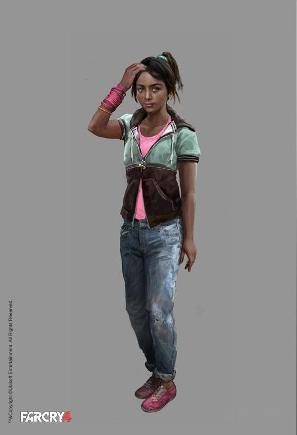 今天官方就给玩家们带来了孤岛惊魂4里不同民族人物的插画,无论是服装