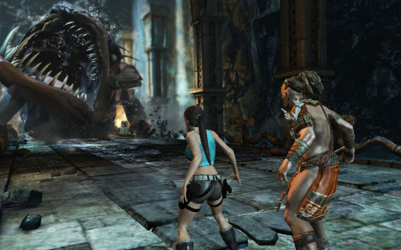 劳拉和奥西里斯神庙最新游戏截图 暗黑风劳