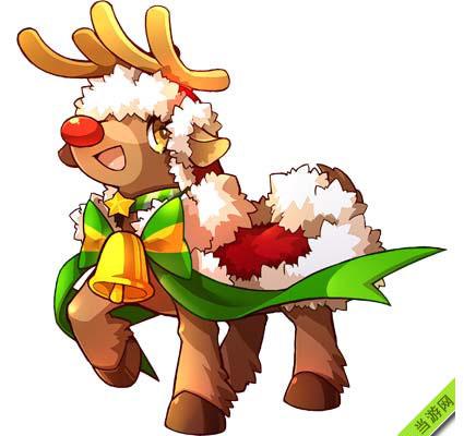 天天酷跑圣诞新坐骑红鼻麋鹿属性