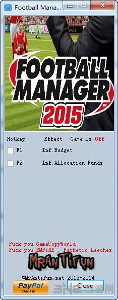 足球经理2015两项修改器截图0