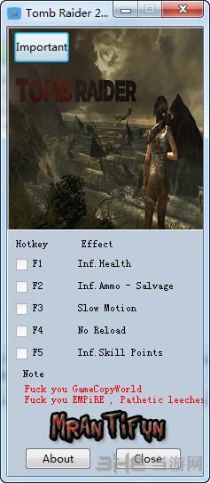 古墓丽影9年度版六项修改器截图0