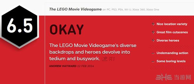 乐高大电影游戏版获IGN6.5中评
