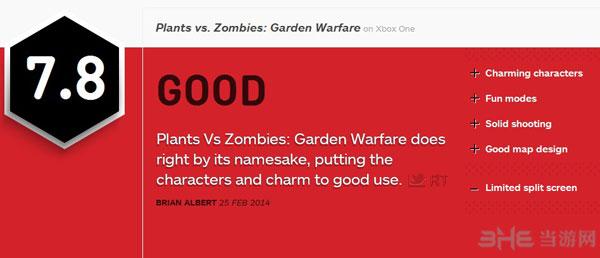 植物大战僵尸花园战争IGN简评