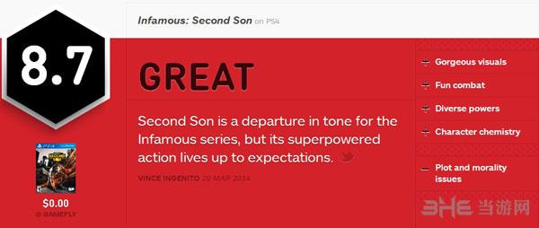 声名狼藉私生子获IGN8.7好评