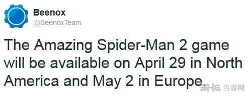 超凡蜘蛛侠2游戏什么时候出