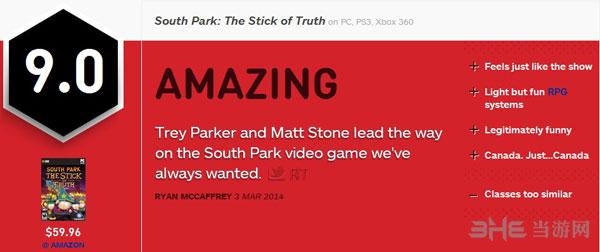 南方公园真理之仗IGN评分
