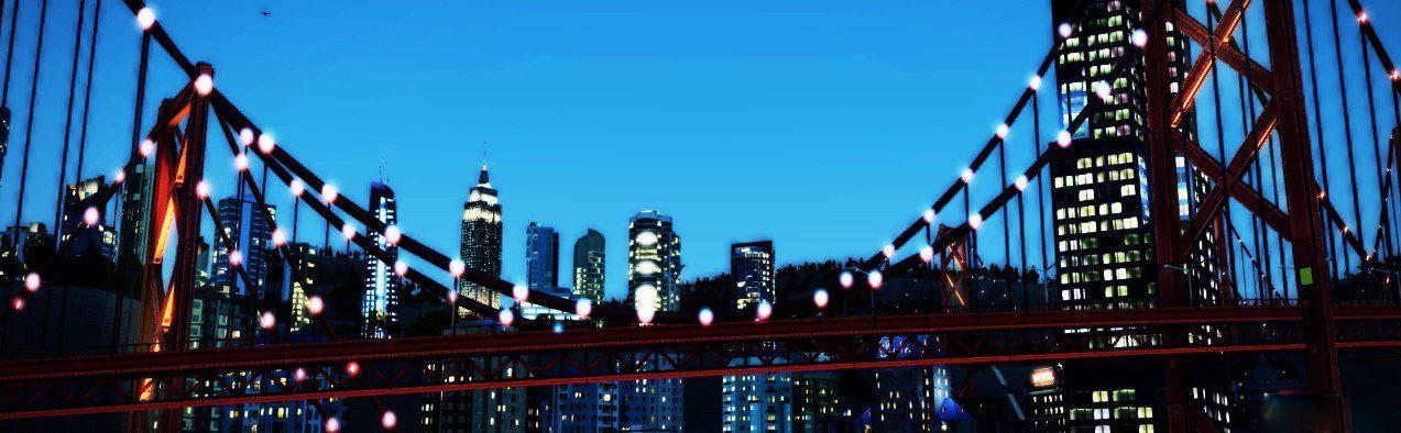 模拟城市5美图欣赏 夜间没有喧哗只有欣赏