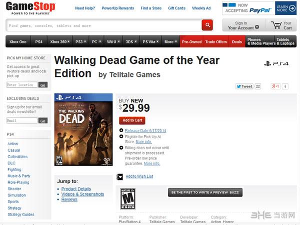 行尸走肉年度版上架PS4
