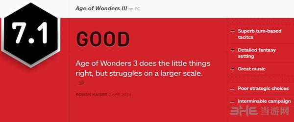 奇迹时代3获IGN7.1好评