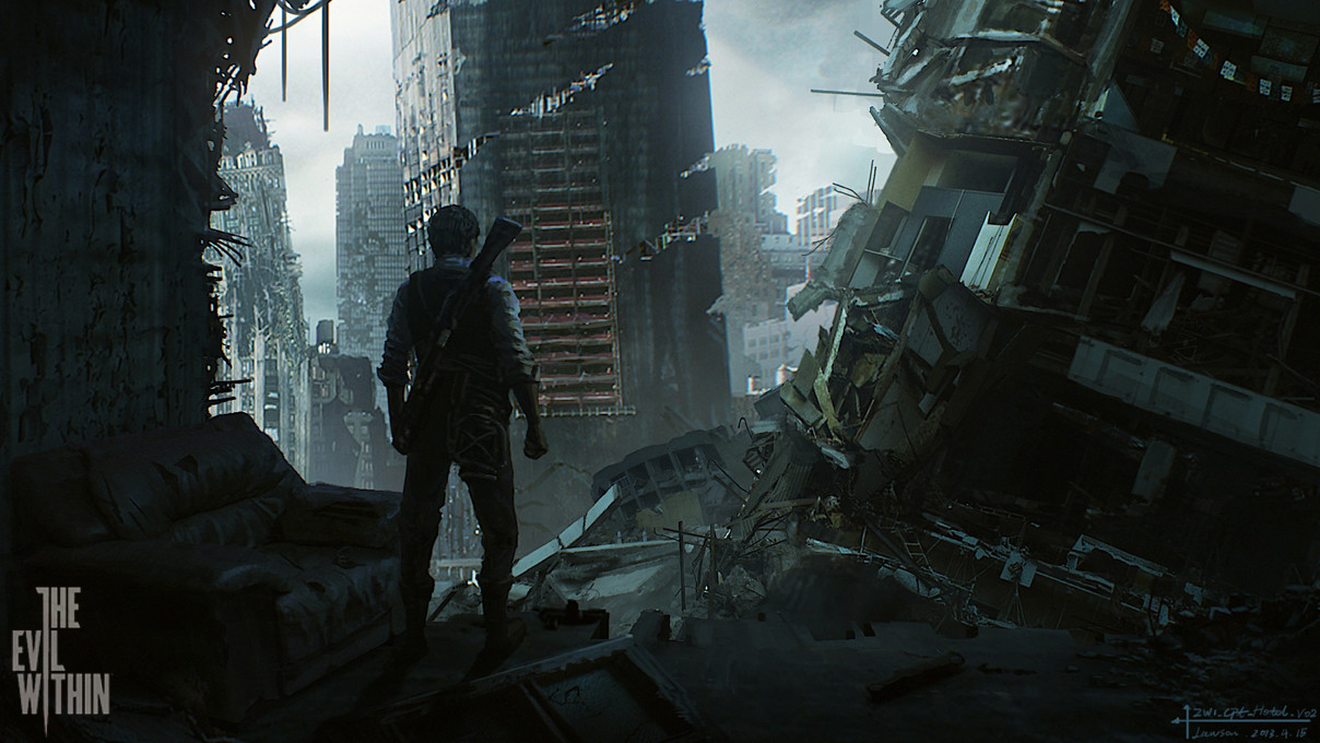 恶灵附身最新游戏原图赏 废墟中艰难重生