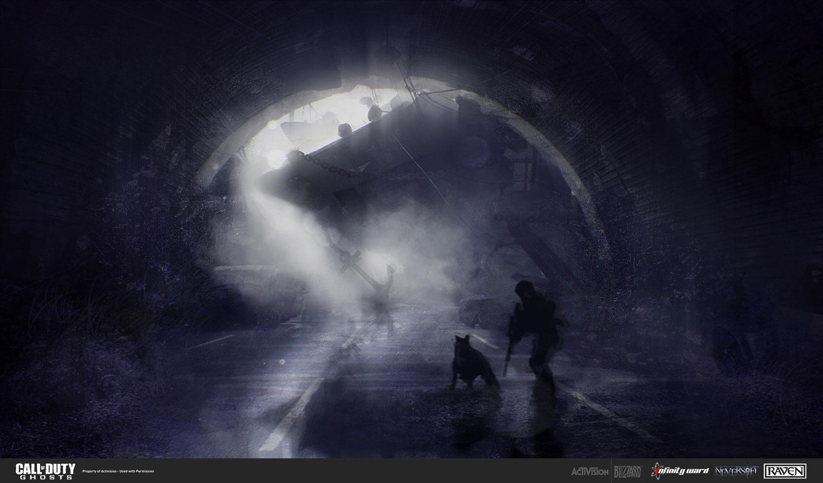 近日,游戏原画设定师Yan Ostretsov给我们发布了一批最新的《使命召唤10幽灵》原画。在原画中,我们可以看到整个游戏荒凉没有人烟,我们的展示和他的狗将要在这片废墟之中进行战斗,画面气氛阴郁沉重。 第 2 页 使命召唤10幽灵高清原画2
