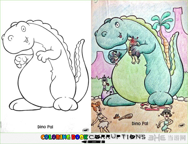 儿童图画书涂鸦成腹黑书