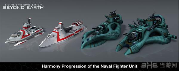 """文明太空Affinity中的""""海军战舰""""单位进化过程"""