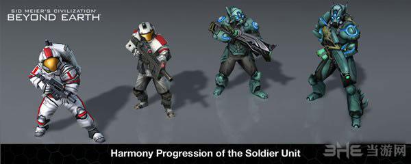 """文明太空Affinity中的""""单兵部队""""单位进化过程"""